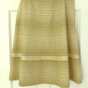 Club Monaco decorative stitched full skirt.
